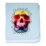 Pop Art Skull Face baby blanket