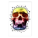 Pop Art Skull Face Postcards (Package of 8)