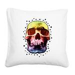 Pop Art Skull Face Square Canvas Pillow