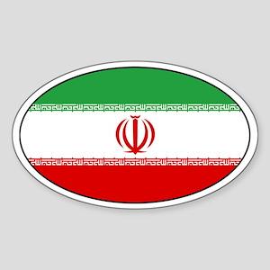 Iranian Stickers Oval Sticker