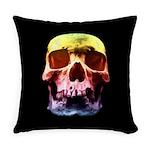 Pop Art Skull Face Everyday Pillow