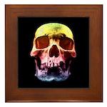 Pop Art Skull Face Framed Tile