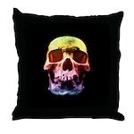 Pop Art Skull Face Throw Pillow