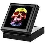 Pop Art Skull Face Keepsake Box