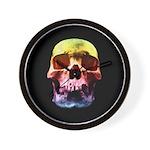 Pop Art Skull Face Wall Clock