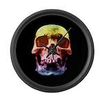 Pop Art Skull Face Large Wall Clock