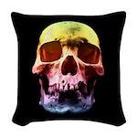 Pop Art Skull Face Woven Throw Pillow