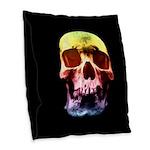 Pop Art Skull Face Burlap Throw Pillow