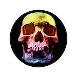 Pop Art Skull Face Button