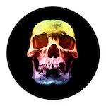 Pop Art Skull Face Round Car Magnet
