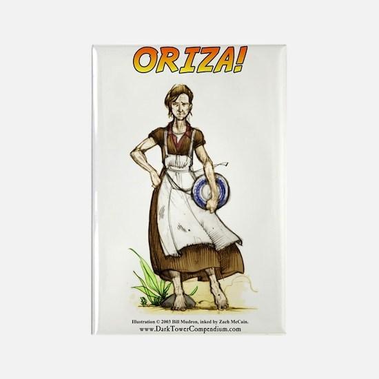 """ORIZA!"" Rectangle Magnet"