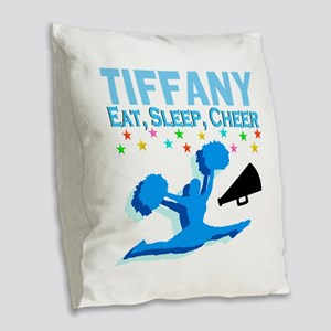 PERSONALIZED CHEER Burlap Throw Pillow