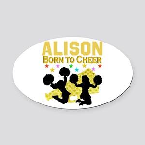PERSONALIZED CHEER Oval Car Magnet