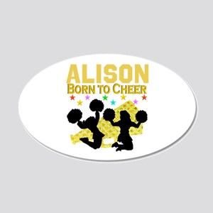PERSONALIZED CHEER 20x12 Oval Wall Decal