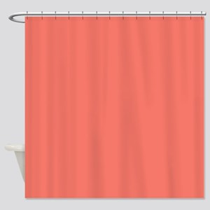 Peach Echo Shower Curtain