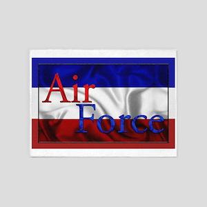 Harvest Moons Air Force Flag 5'x7'Area Rug
