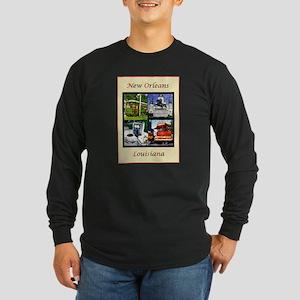 new orleans Long Sleeve Dark T-Shirt