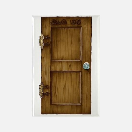 """""""Unfound"""" Door Rectangle Magnet"""