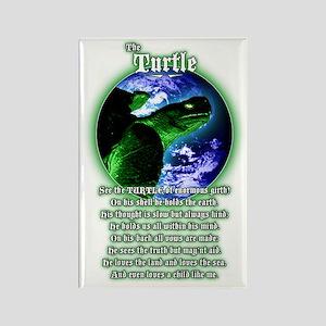 """The Turtle"" Guardian poem Rectangle Magnet"