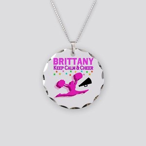 PERSONALIZED CHEER Necklace Circle Charm