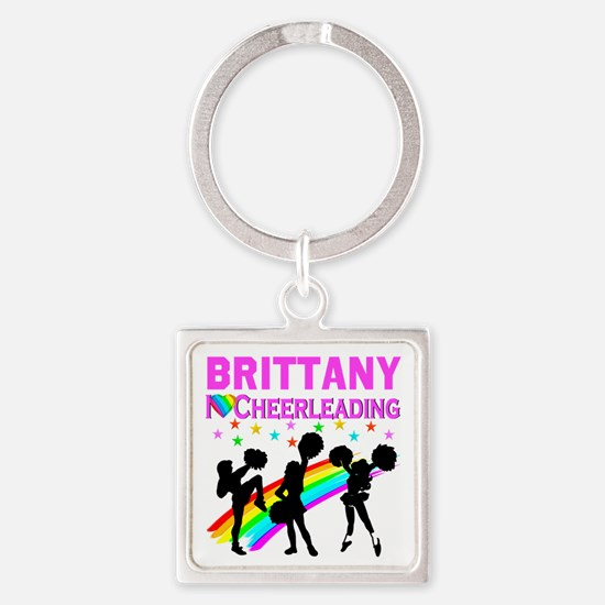 PERSONALIZED CHEER Square Keychain