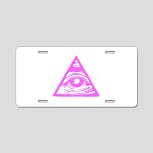 Pink Aluminum License Plate