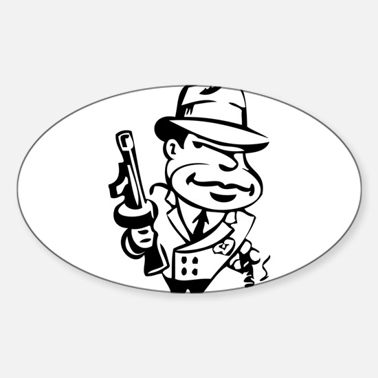 Mobster toon Bumper Stickers
