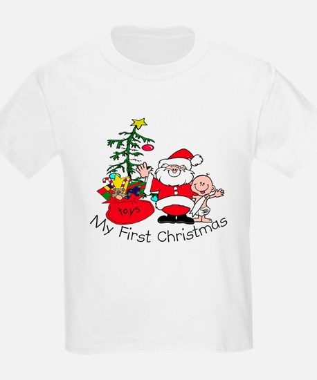 First Christmas Santa & Baby T-Shirt