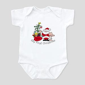 First Christmas Santa & Baby Infant Bodysuit