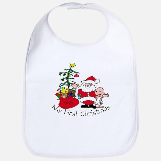 First Christmas Santa & Baby Bib