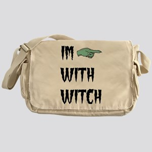 Im with witch Messenger Bag