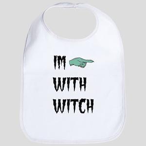 Im with witch Bib