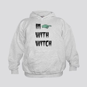 Im with witch Kids Hoodie