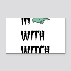 Im with witch Rectangle Car Magnet