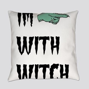 Im with witch Everyday Pillow