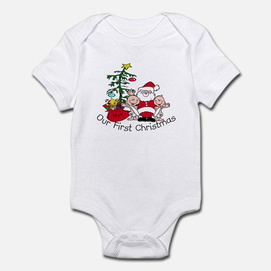 Our First Christmas Santa/TWI Infant Bodysuit