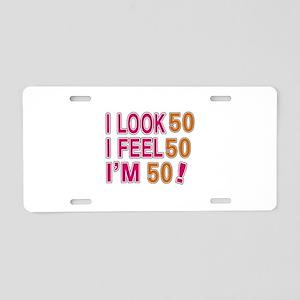 I Look 54 Aluminum License Plate