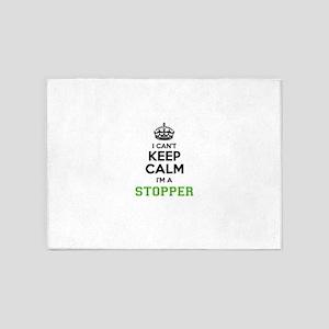 Stopper I cant keeep calm 5'x7'Area Rug