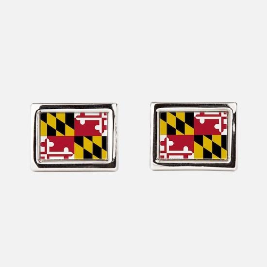 Unique Maryland flag Rectangular Cufflinks