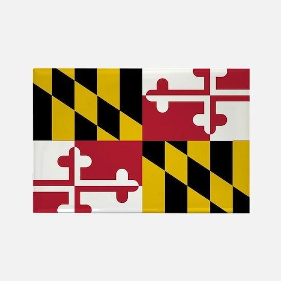 Unique Maryland flag Rectangle Magnet