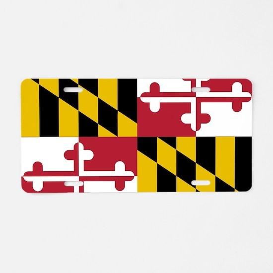 Unique Maryland Aluminum License Plate