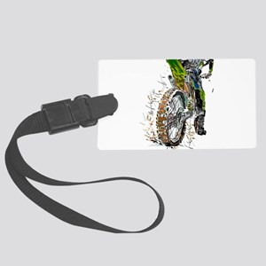 Motorcross Large Luggage Tag
