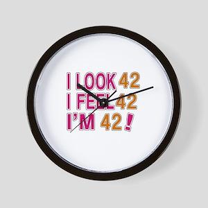 I Look 42 Wall Clock