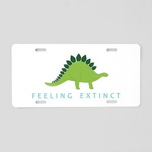 Feeling Extinct Aluminum License Plate