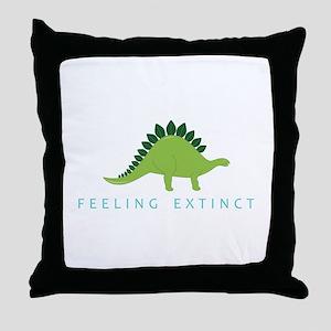 Feeling Extinct Throw Pillow