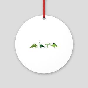 Dino Border Round Ornament
