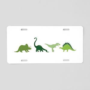 Dino Border Aluminum License Plate