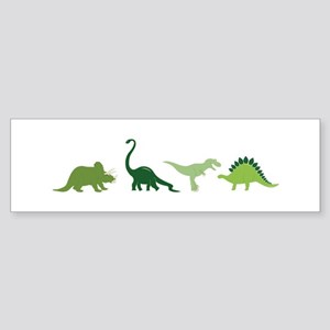 Dino Border Bumper Sticker