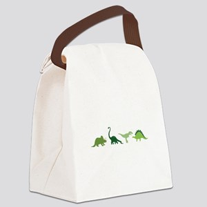 Dino Border Canvas Lunch Bag