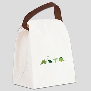 Dino Border Canvas Lunch Bag